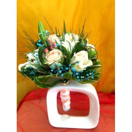 Bouquet de la mariée  blue corail