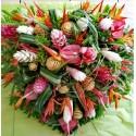 Paradis - Coeur fleurs tropicales
