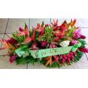 Affection - Raquette de fleurs tropicales