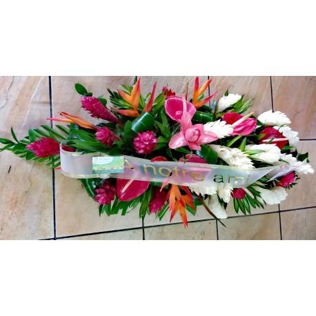 Requiem - Raquette de fleurs tropicales
